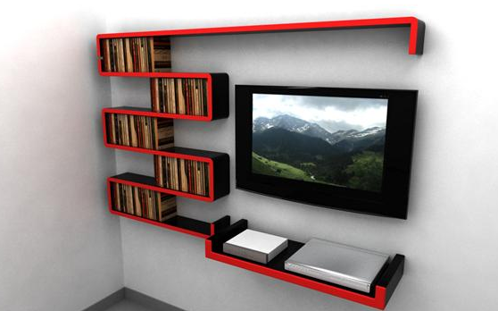 Idea #1: Continuous floating shelf system