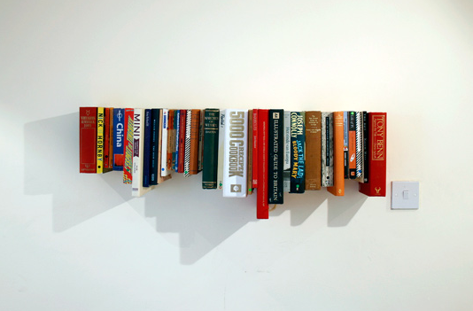 Shelves Made From Books 534 x 351
