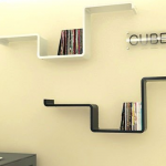 sleek floating bookshelf