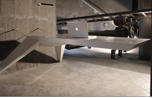 floating office desk. modern office floating desk e