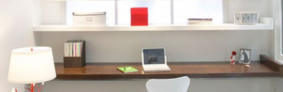 Office floating desk designs