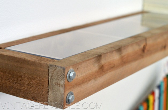 DIY rustic floating wall shelves