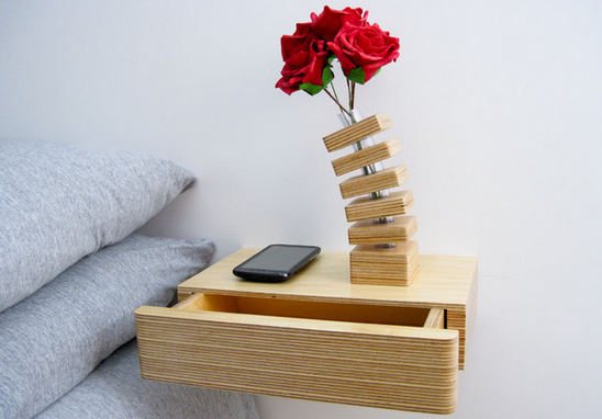 floating shelf with hidden storage 3