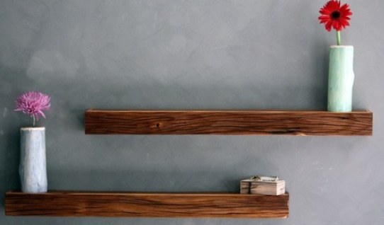 rustic floating wall shelves 2