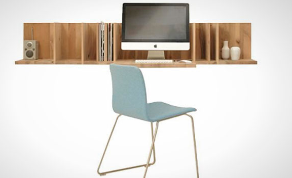 Small Floating Desk Stylish Floating Desk With Storage
