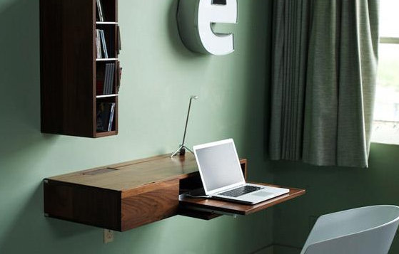 small floating wall desk 8
