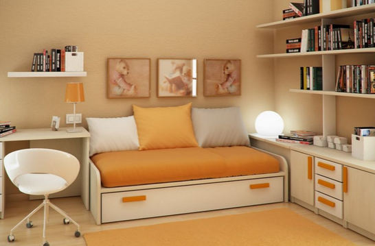 floating furniture in small room 1