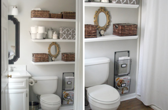 floating shelves ideas for bathroom 1