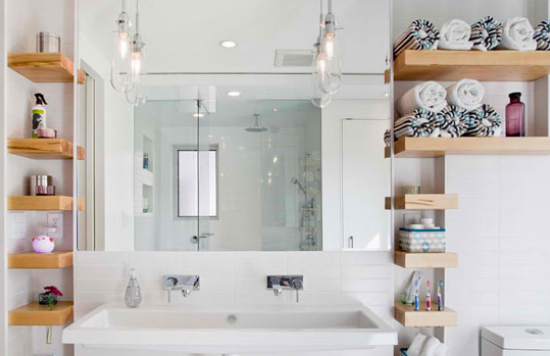 floating shelves ideas for bathroom 4