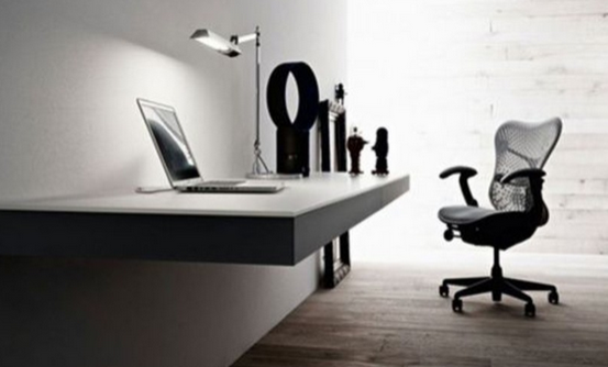 black floating desk idea 3
