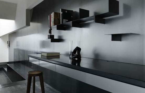 black floating desk idea 5