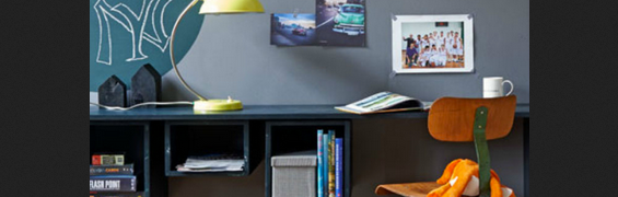 Modern black floating desk ideas