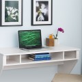 design white floating desk