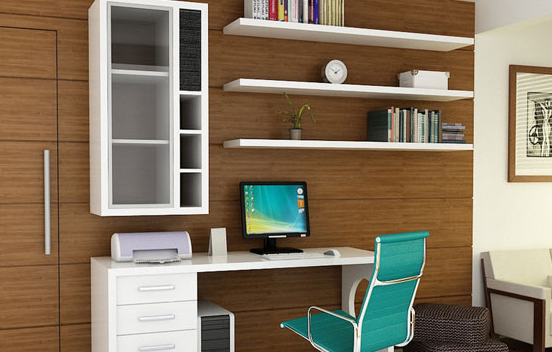 8 small office designs you will love Floating Shelf