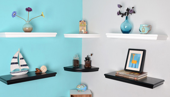 Wall decor using floating shelves ← Floating Shelf