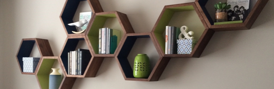Wall decor using floating shelves